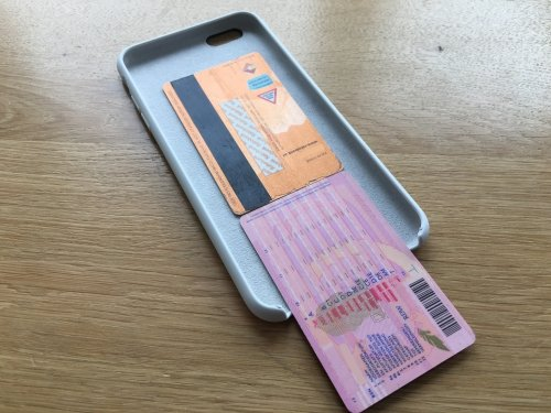 The iPhone case is large enough to hide cards.