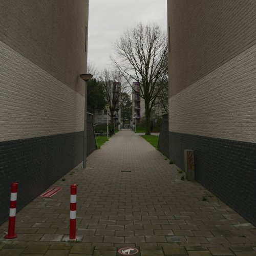 Typical alley in Venserpolder, Amsterdam-Zuidoost