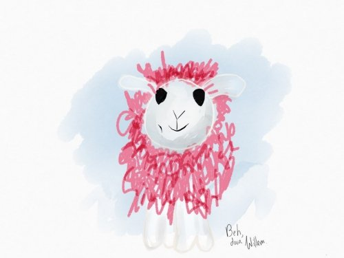 A pink sheep named Beh