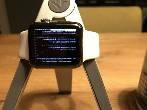 Real programming code, real Apple Watch. No Photoshop.