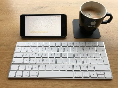 Feeling mobile: this blog post was created using an iPhone, a keyboard and some coffee! No PC!