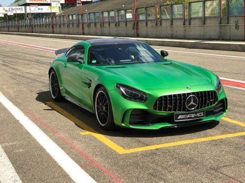 The Mercedes-AMG GT R at the Zolder Circuit in Belgium