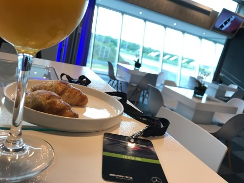 Breakfast at 8 am at the Zolder Circuit