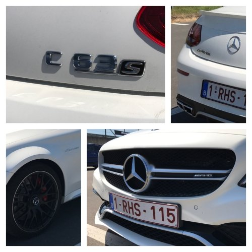 Some more details of this brutal C63S machine