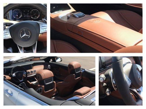 The S63s interior is second to none: amazing details, very high-end