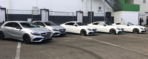 The less powerful A45 (left) is actually faster at the agility challenge than the S63s (right)