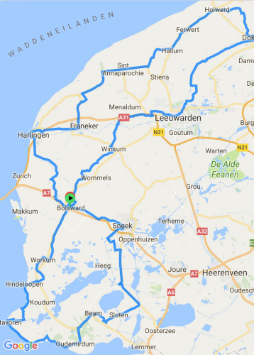 The route through Friesland