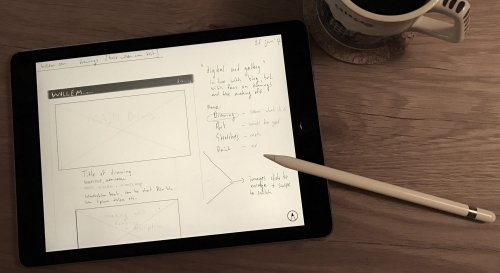 iPad Pro + Apple Pencil replacing paper