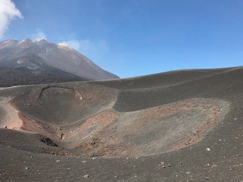 These craters are the result of explosive magma eruptions