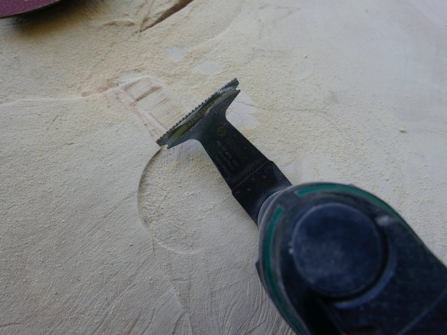 Sawing off rough edges