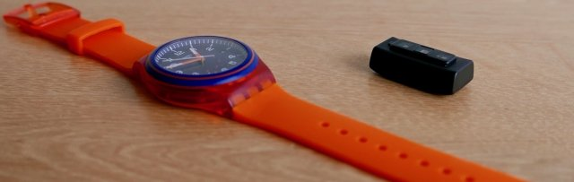 The Biostrap PPG sensor is about as thick as a watch