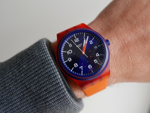 ... now you don't - Biostrap wears well and easily goes under your sleeve