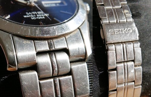 Notice the countless microscopic scratches reflecting light like no new watch would