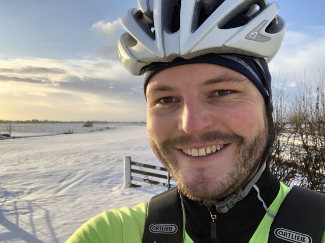 On the bike during Dutch winter