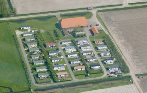 Chalets seen from above at Jachtlust Recreatie, Slufterweg 380, Texel