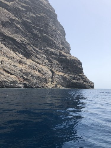 Swimming in the Atlantic Ocean, down at Los Gigantes