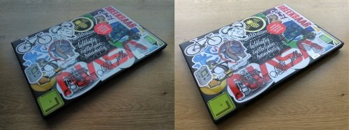 Side by side photo comparison: left Nokia, right iPhone