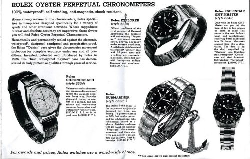Classic Rolex advertisement - highlighting the functionality first