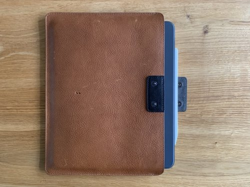 Hardgraft iPad Pro case with the keyboard folio and Apple Pencil