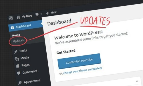 Update WordPress from the wp-admin dashboard