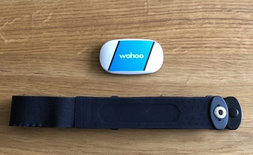 Conductive pads in the chest strap work in a similar way as the heart rate monitor in hospitals