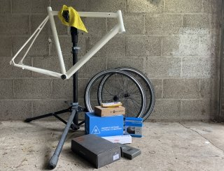 I wondered how hard it would be to make a bike from spare parts I had in my garage