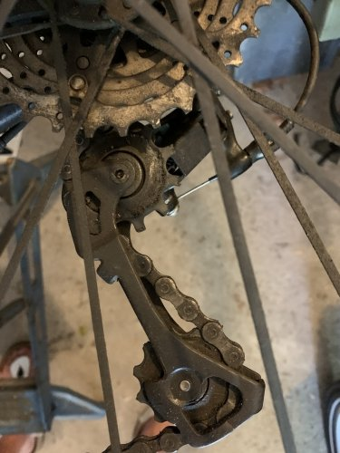 Dirty rear derailleur