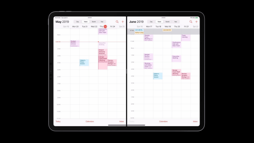 Comparing different months in the calendar app