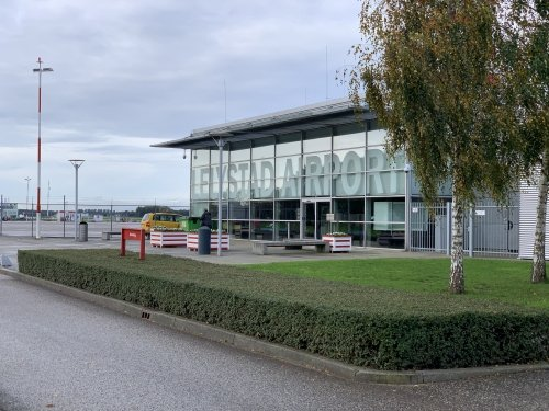 Lelystad Airport terminal building near the hangar where the PH-PBA is stationed