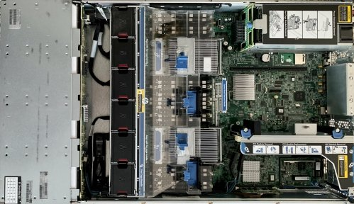 Inside a HPE ProLiant DL380p Gen8 server (LFF)