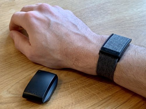 The WHOOP Strap is charged using a slide-on battery pack, allowing you to wear it continuously