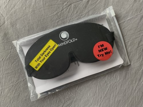 The Mindfold sleep mask: total darkness with your eyes open