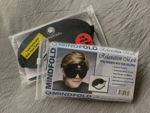 Maybe it's the font, maybe it's her haircut, but somehow I get a 80s vibe from the Mindfold's packaging :-)
