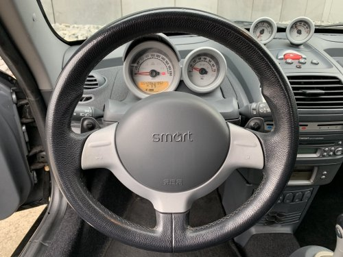Smart Roadster steer - notice the F1-style gear flaps