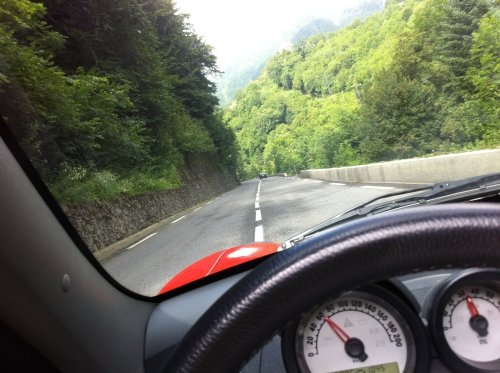 Twisty mountain roads - pure fun in a Roadster! (near the French/Spanish border)