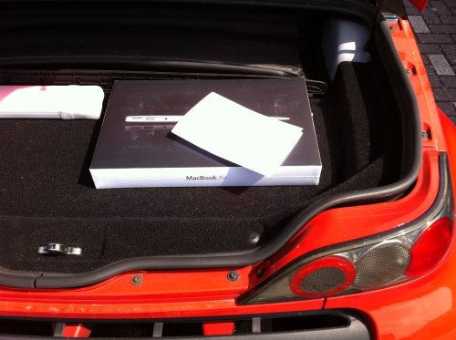 The spacious trunk is big enough for a laptop or two