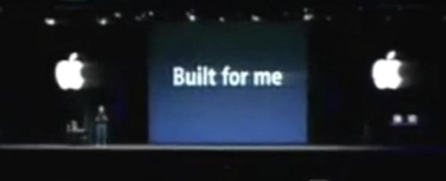 Steve Jobs announcing the Keynote app at MacWorld 2003, joking that it was build for himself, him being an underpaid beta tester