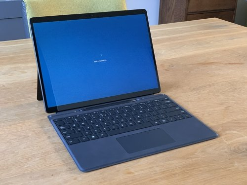 Surface Pro X with its keyboard is just like a laptop