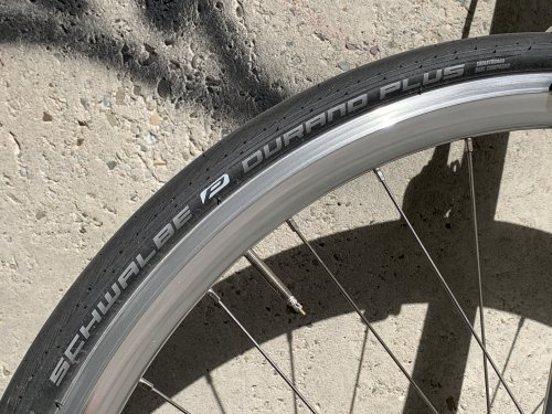 The Schwalbe Durano Plus tire is the most puncture resistant road bike tire available