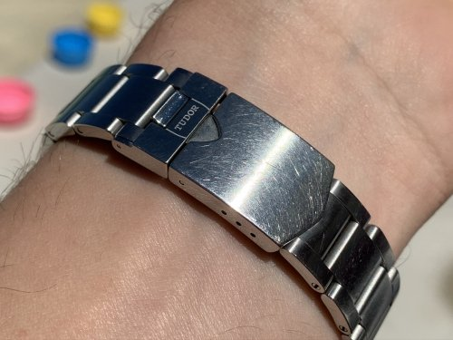 This is what 6 months of continuous wear look like on a Oyster bracelet!