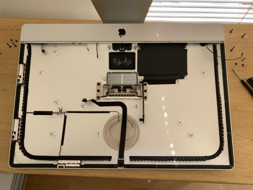 A (nearly) empty iMac enclosure