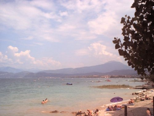 No vintage photo filters applied: this is an untouched original digital photo from 2001. (Lake Garda, Italy, 2001)