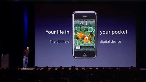 Steve Jobs introducing the original iPhone in 2007 as 'ultimate digital device'