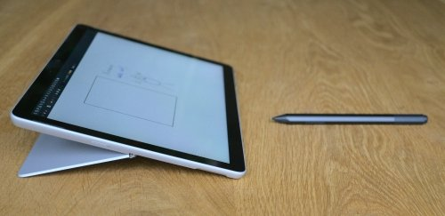 The kickstand is brilliant in combination with Xournal and the Surface Pen - no iPad can do this