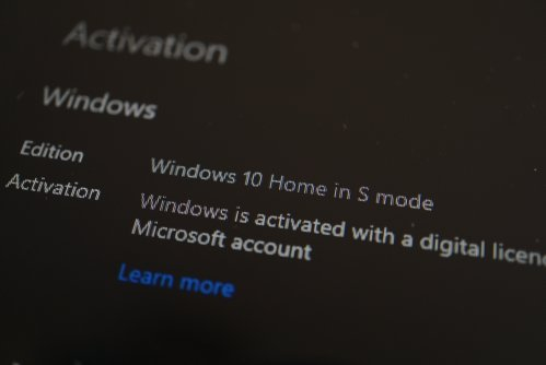Windows 10 Home in S mode