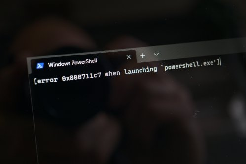 Error 0x800711c7 when launching 'powershell.exe' - a friendly reminder that you're running in S-mode, stupid...