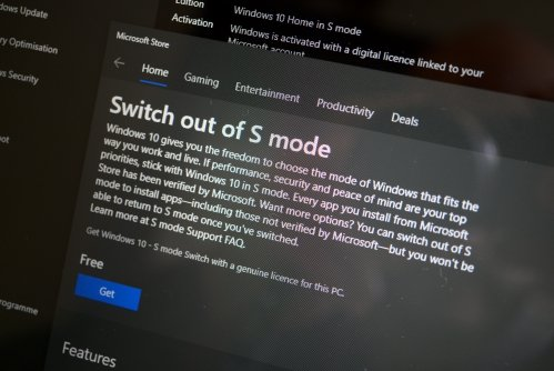 "Switch out of S mode is possible and ""free of charge"""