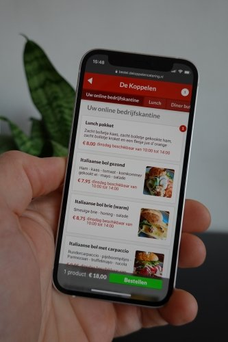 People use the app to order food - orders are forwarded to kitchen and delivery staff