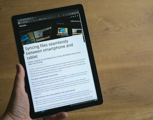 Writing and reading blog posts using my own tablet OS