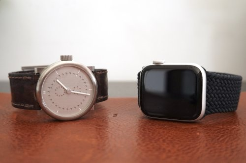 Mechanical watch and Apple Watch